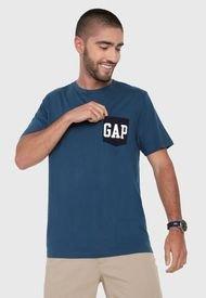 Camiseta Azul-Blanco GAP
