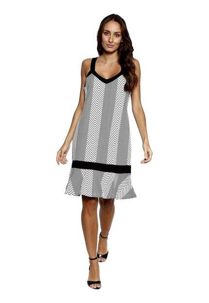 Energia Vestido Midi Energia Fashion Preto 6QzMh