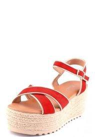 Sandalia Plataforma Izzy Rojo Weide