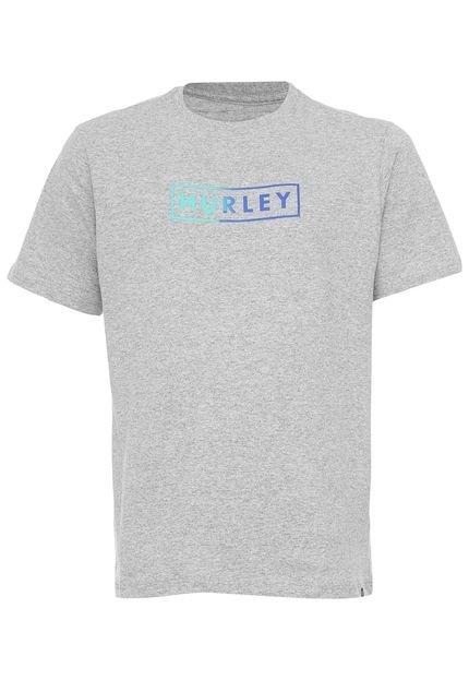 Camiseta Hurley Boxed Gradient Cinza