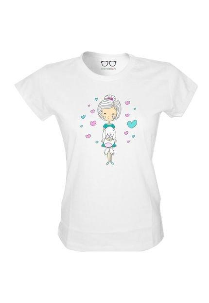 Nerderia Camiseta Baby Look Nerderia Love Dogs Branco I0gtC