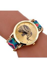 Reloj Mujer Elefante Tejido - Azul