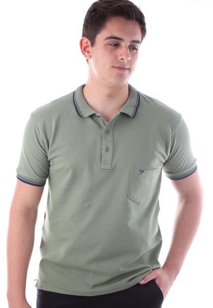 Camisa Polo CP0704 Regular Traymon Verde Oliva