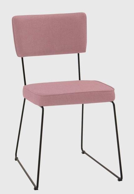 Cadeira Roma Aço Tecido Daf Coral - Marca Daf