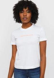 Polera Calvin Klein Jeans Blanco - Calce Regular
