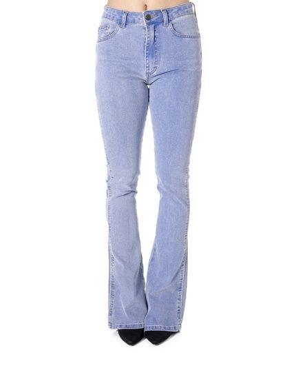ATEEN Calça Ateen Jeans Flare Lavagem Média Azul dB67d