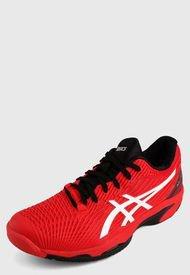 Tenis Para Tennis Rojo-Negro asics Solution Speed