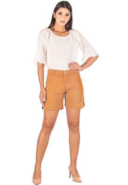 Bermuda Sisal Jeans Meia Coxa Sarja Caramelo - Marca Sisal Jeans