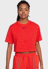 Polera Nike W NSW ICN CLSH MOD CROP SS TOP Rojo - Calce Holgado