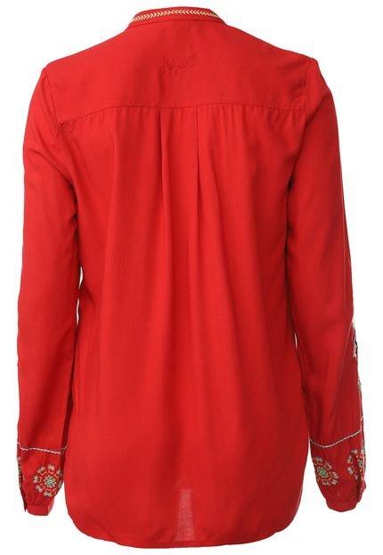 Desigual Camisa Desigual Verônica Vermelha 6olhA