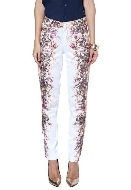 Energia Calça Tecido Energia Fashion Branco Estampado zzX4o