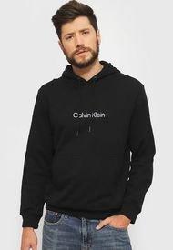 Polerón Calvin Klein LS CK LOGO TERRY PO HOOD Negro - Calce Regular