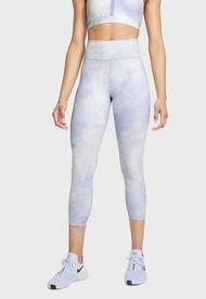 Leggings Nike W NIKE ONE ICNLCSH CROP TGT CR Celeste - Calce Ajustado