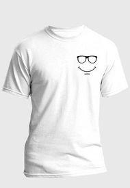 Camiseta Estampada Hombre Negro-Blanco Kuva - Smile