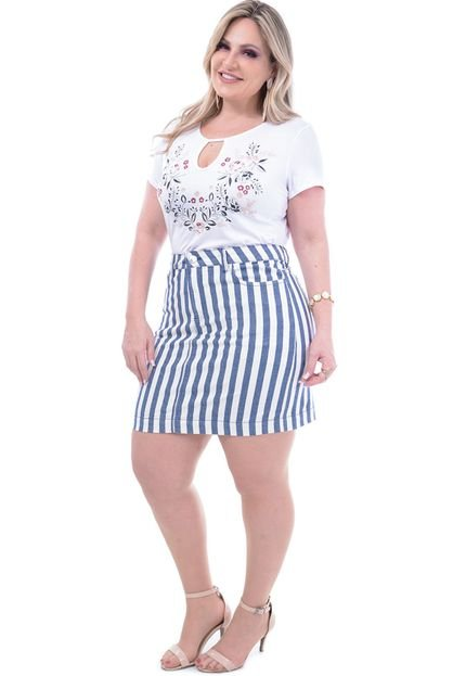 Attribute Jeans Minissaia Attribute Jeans Plus Size Listrada hDbdr