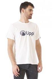 Polera Algodon Hombre Logo Lippi Blanco Lippi