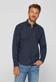 Camisa Con Lunares Azul Marino Esprit