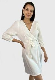 Vestido Vero Moda Corto Blanco - Calce Regular