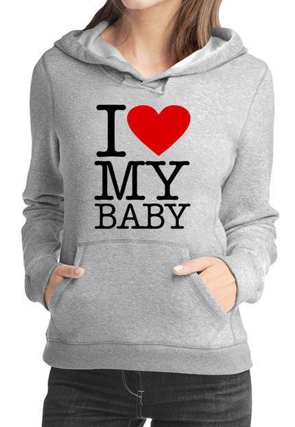 Criativa Urbana Moletom Criativa Urbana Gestante Mamãe Love Baby Cinza. sY7y9