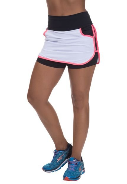 Miss Blessed Shorts Saia Mis Blessed com Dry Fit Branco 2jND7