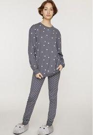 Pijama Comfy Gris Corona