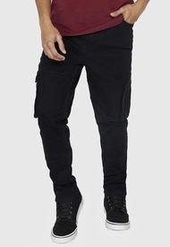 Jeans Skinny Cargo Negro - Hombre Corona