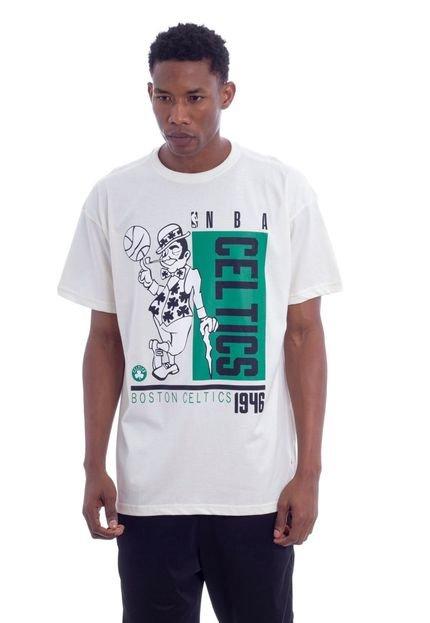 Camiseta NBA Boston Celtics Off White