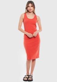 Vestido Wados SM Solid Naranjo - Calce Ajustado