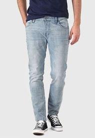 Jeans Lee Luke Gris - Calce Ajustado