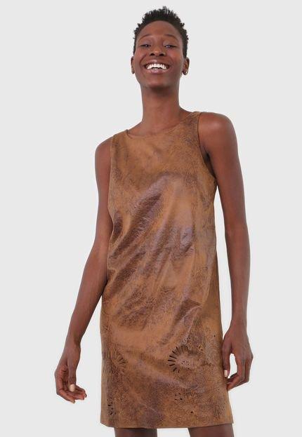 Desigual Vestido Desigual Curto Vania Caramelo hhU7R