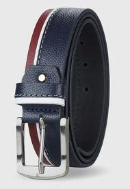 Cinturón Cuero Genuino Donato Azul Miura