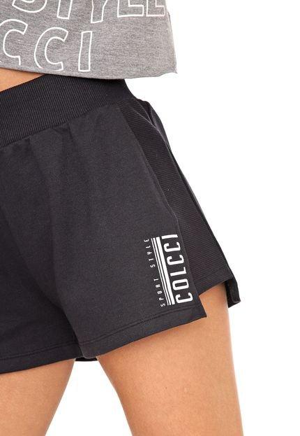 Colcci Fitness Short Colcci Fitness Lettering Preto
