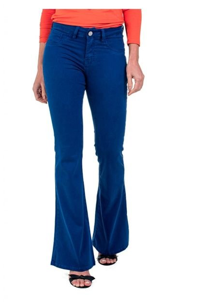 Bloom Calça Jeans Bloom Color Flare Taty Azul ZN8rY