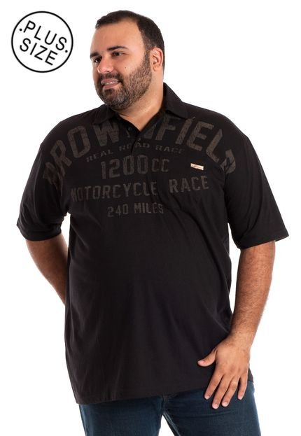 Camisa Polo Konciny Plus Size Grafite
