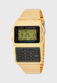 Reloj Vintage Con Calculadora Dorado Casio