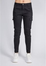 Pantalon Cargo Skinny Negro Sioux