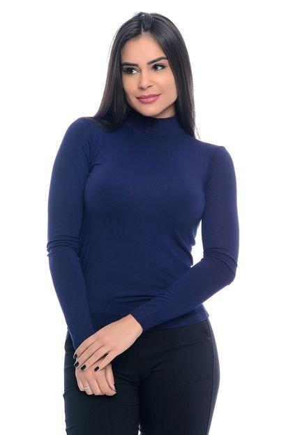 B Bonnie Blusa B'Bonnie Cacharrel Feminina Azul Marinho MJe7F