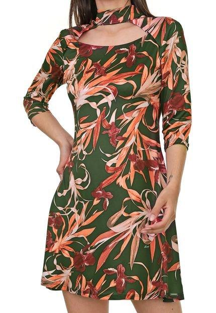 dimy Vestido dimy Curto Floral Verde NCNR9