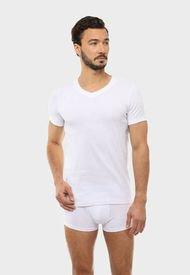 Camiseta Bipack Cuello En V Blanco Arrow