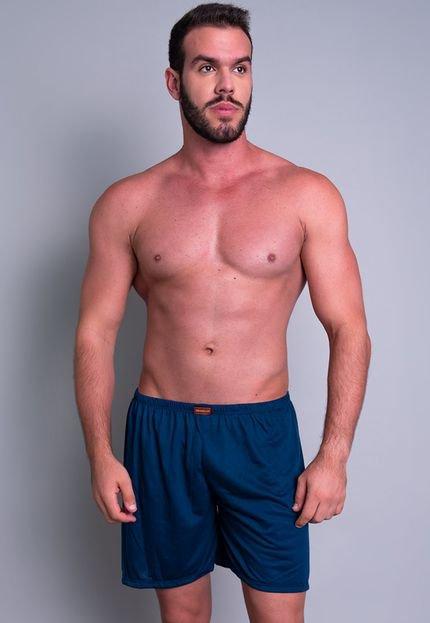 Short Curto MVB Modas  Pijama De Dormir Azul