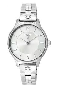 Reloj Len De Acero Plateado Tous