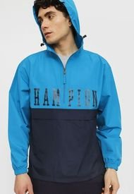 Cortaviento Champion Color Blocked Packable Jacket Azul - Calce Regular