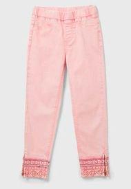 Pantalón Desigual Niña Denim Rosa - Calce Regular