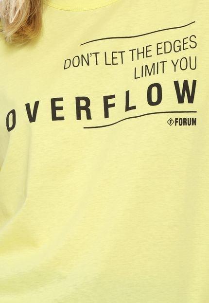 Forum Camiseta Forum Lettering Amarela