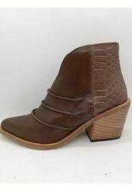 Bota de Cuero Chocolate Abryl calzados Malena