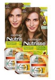 Pack Coloracion 60 Nutrisse + 3 Hair Food Sachet Garnier