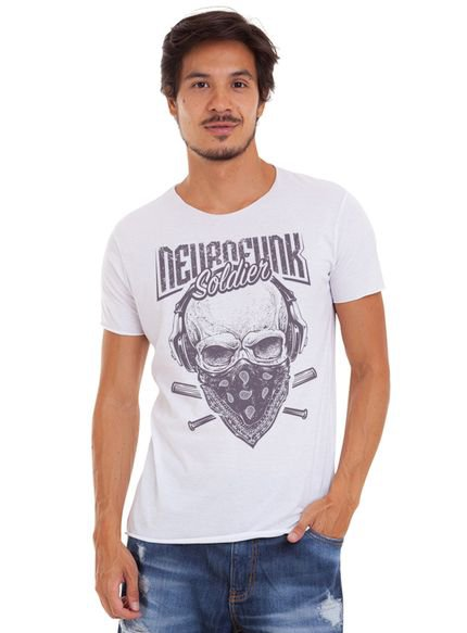 Camiseta Joss Corte A Fio Soldier Branco