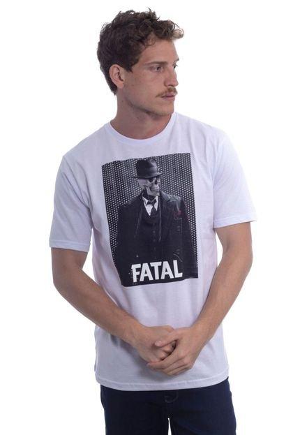 Camiseta Fatal Estampada Skull Branca