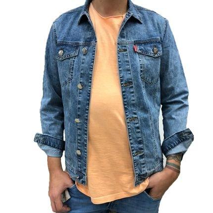 Jaqueta jeans marmorizada