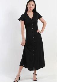Vestido Satin Negro Night Concept